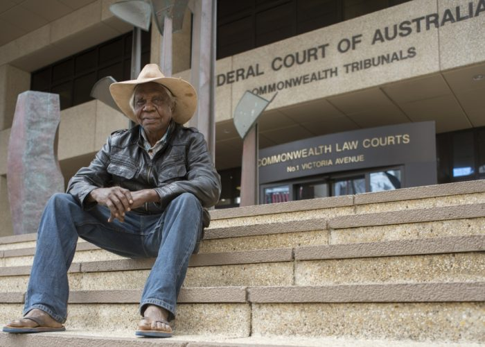 Banjima elder Alec Tucker at the Federal Court in Perth
