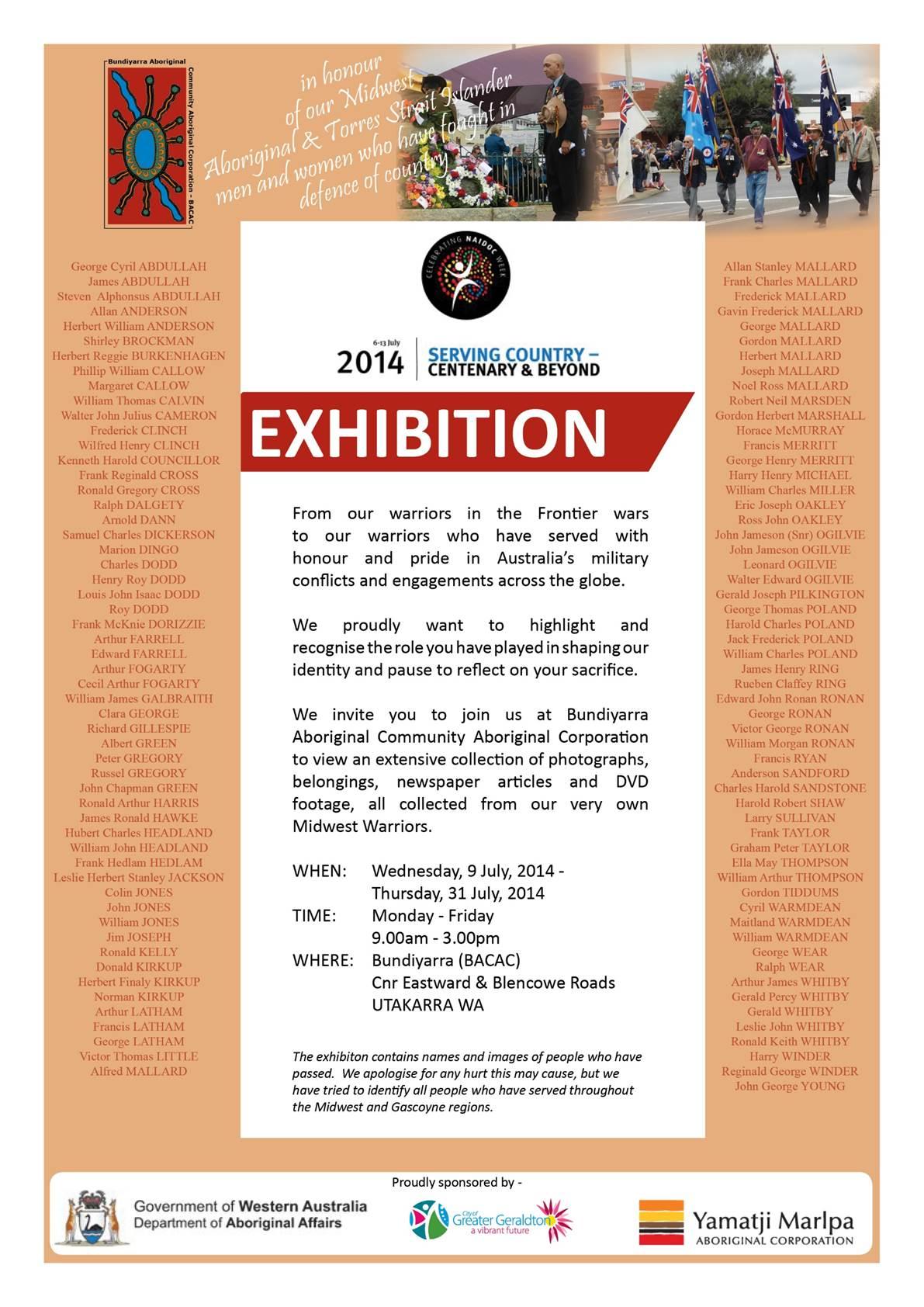 Bundiyarra exhibition NAIDOC 2014
